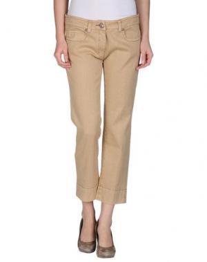 Джинсовые брюки SAUVAGE. Цвет: песочный