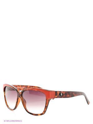 Солнцезащитные очки Franco Sordelli. Цвет: коричневый, красный
