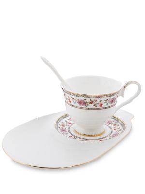 Чайная пара Милано-Мариттима (Milano Marittima Pavone) Pavone. Цвет: белый, золотистый, розовый