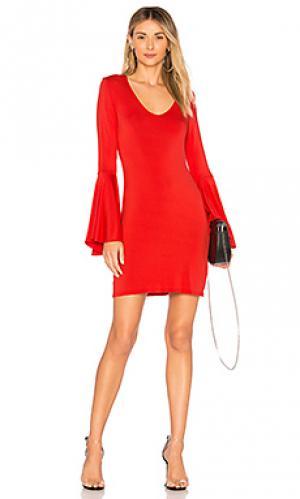 Платье phoebe LA Made. Цвет: красный