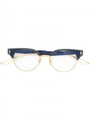 Очки Brixa Dita Eyewear. Цвет: синий