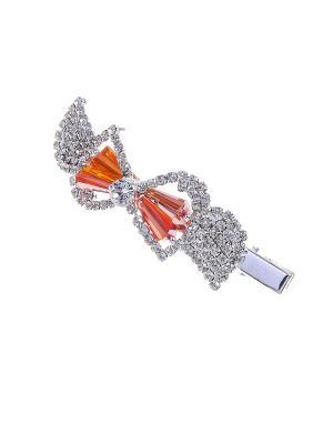 Заколка Migura. Цвет: серебристый, оранжевый