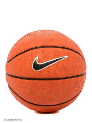 Мяч SWOOSH MINI Nike. Цвет: оранжевый, черный, рыжий