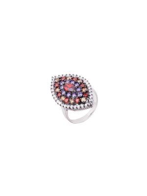 Кольцо Мастер Клио. Цвет: фиолетовый, красный, золотистый, белый