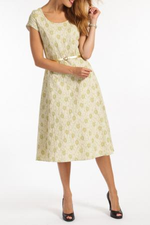 Платье TOK. Цвет: зеленый