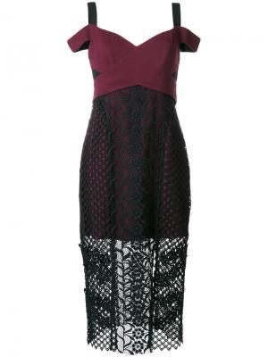 Sonnet lace dress Three Floor. Цвет: красный