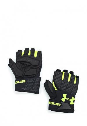 Перчатки для фитнеса Under Armour. Цвет: черный