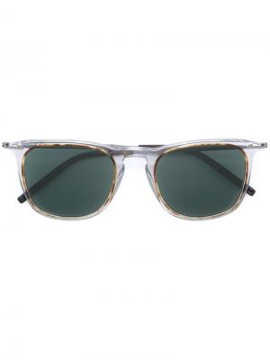 Солнцезащитные очки в квадратной оправе Tomas Maier. Цвет: металлический