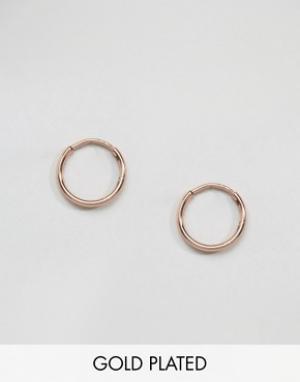 Pilgrim Серьги-кольца с покрытием из розового золота. Цвет: золотой