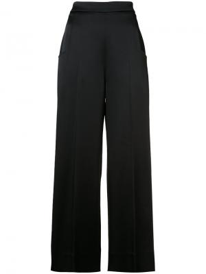 Широкие брюки Roland Mouret. Цвет: чёрный
