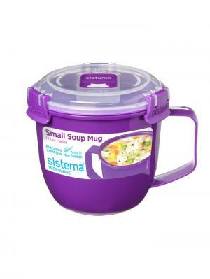 Кружка суповая TO-GO 565мл Sistema. Цвет: фиолетовый