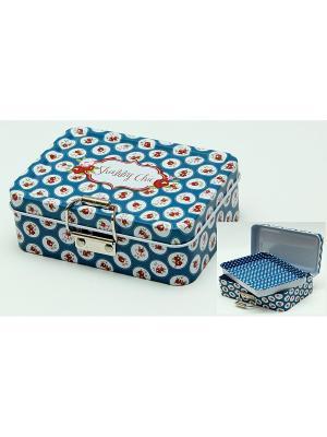 Коробка для безделушек и мелочей Шебби шик синяя Magic Home. Цвет: серо-голубой