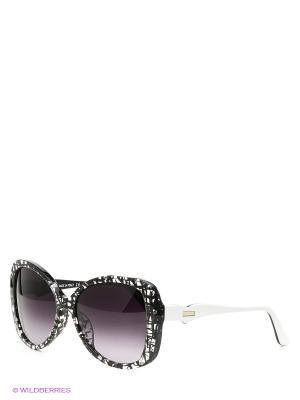 Солнцезащитные очки MO 731S 02 MOSCHINO. Цвет: черный