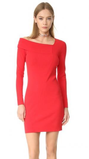 Асимметричное платье Edition10. Цвет: томатный