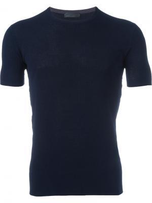 Вязаная футболка Costume National. Цвет: синий