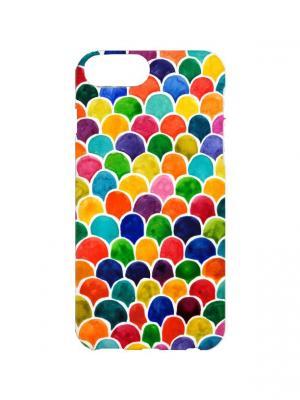 Чехол для iPhone 7Plus Цветные соты Арт. 7Plus-293 Chocopony. Цвет: оранжевый, желтый, красный