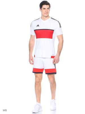 Шорты KONN16 Adidas. Цвет: белый, красный