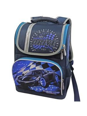 Ранец ученический Stelz. Цвет: темно-синий, голубой, синий