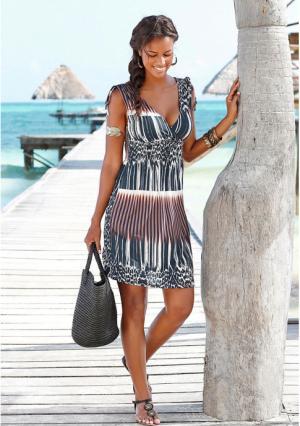 Платье Lascana. Цвет: с рисунком