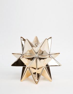 Temerity Jones Золотистая подставка для свечи в виде звезды. Цвет: золотой