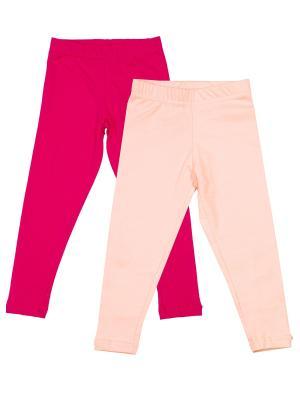 Комплект легинсов, 2 шт МИКИТА. Цвет: малиновый, бледно-розовый