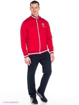 Спортивный костюм ADDIC. Цвет: красный, темно-синий