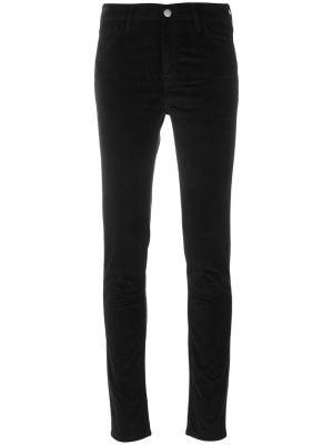 Бархатные брюки Bridge Mih Jeans. Цвет: чёрный