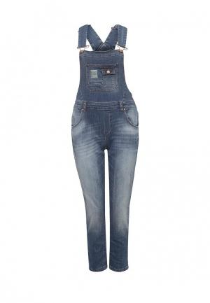 Комбинезон джинсовый Silvian Heach. Цвет: синий
