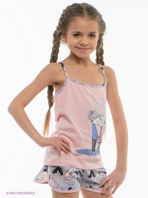 Пижама HAYS. Цвет: голубой, бледно-розовый