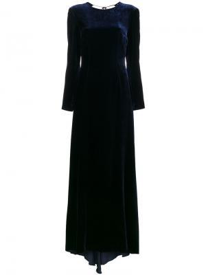 Бархатное платье макси Somerset Racil. Цвет: синий