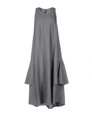 Платье длиной 3/4 EUROPEAN CULTURE. Цвет: серый