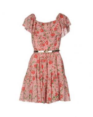 Короткое платье ALEXANDER TEREKHOV. Цвет: розовый