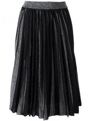 Плиссированная юбка длины миди Dodo Bar Or. Цвет: чёрный