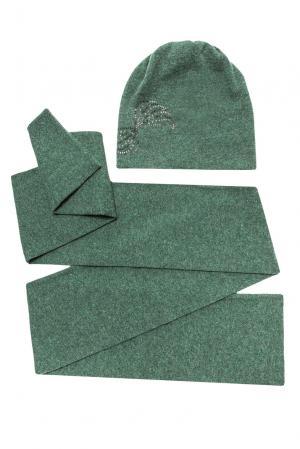 Комплект из шерсти с кристаллами Swarovski (шапка и шарф) 154744 Anna Jollini