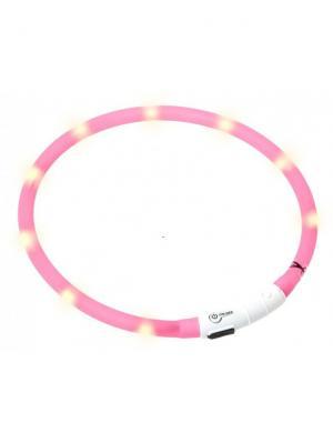 Светящийся ошейник Unigood. Цвет: розовый