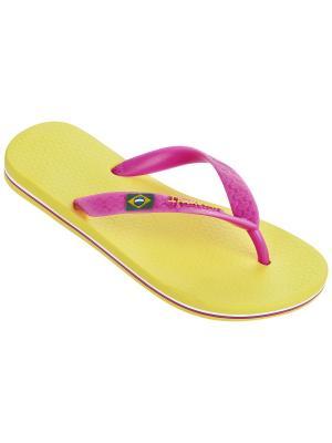 Шлепанцы Ipanema. Цвет: желтый, розовый