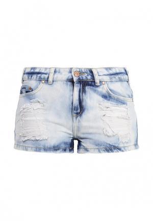 Шорты джинсовые Sela. Цвет: разноцветный