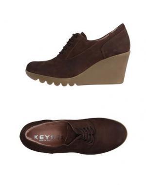 Обувь на шнурках KEYS. Цвет: какао