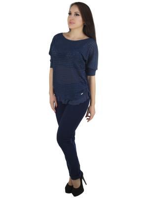 Блузка OROBLU. Цвет: темно-синий