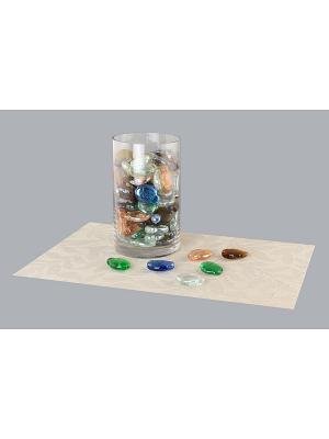 Набор декоративных камешков Рыбки EL CASA. Цвет: синий, зеленый, коричневый, прозрачный, оранжевый