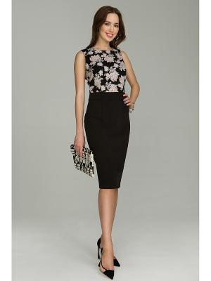 Платье La vida rica. Цвет: черный, серый