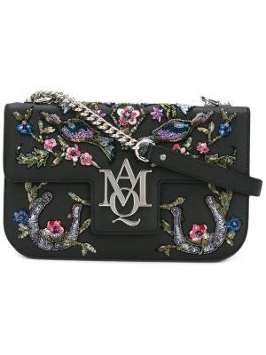 Декорированная сумка-сэтчел  Insignia Alexander McQueen. Цвет: чёрный
