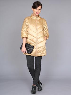 Куртка nasha. Цвет: золотистый