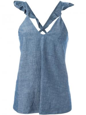 Расклешенный джинсовый топ Dondup. Цвет: синий
