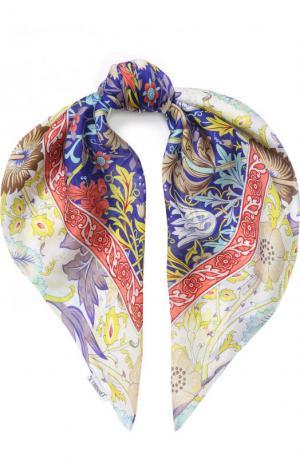 Шелковый платок с принтом Il Trenino. Цвет: разноцветный