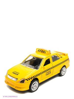 Машина Лада-приора такси Технопарк. Цвет: желтый