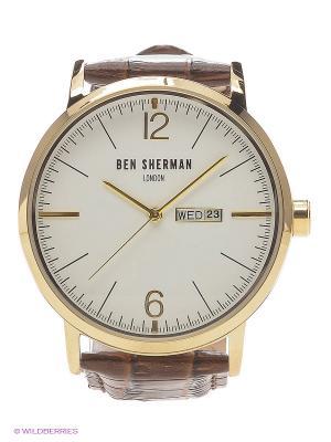 Часы Ben Sherman. Цвет: коричневый