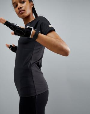 ASOS 4505 Обтягивающая спортивная футболка. Цвет: черный