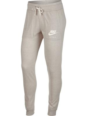 Брюки W NSW GYM VNTG PANT Nike. Цвет: бежевый