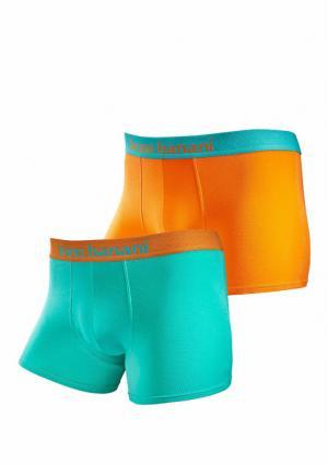 Боксерские трусы, 2 штуки BRUNO BANANI. Цвет: оранжевый/бирюзовый